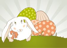 Easter Bunny with egg retro Royalty Free Stock Images