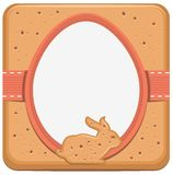 Easter bunny and egg shape cookie Stock Photography