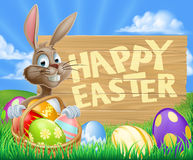 Easter Bunny Egg Sign Stock Photography
