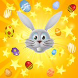 Easter bunny egg and star background Stock Photo
