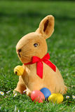 Easter bunny with eggs_1 Stock Photography