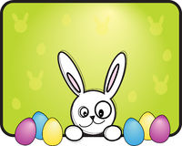 Easter bunny with eggs Royalty Free Stock Image