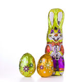 Easter bunny with eggs Stock Photos