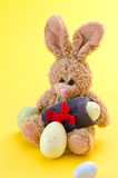 Easter bunny with eggs Stock Images