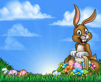Easter Bunny and Eggs Background Royalty Free Stock Image