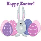 Easter bunny and eggs in a cartoon style vector Royalty Free Stock Photography