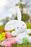 Easter bunny and eggs Stock Photo