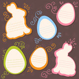 Easter bunny and eggs discount sale stickers Stock Photos