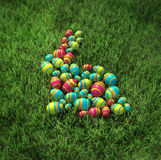 Easter bunny of eggs Royalty Free Stock Photos