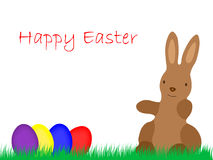 Easter Bunny with Eggs on grassland Royalty Free Stock Photos