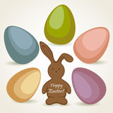 Happy Easter bunny Stock Photos