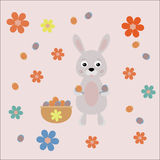 Easter bunny with eggs Stock Photo