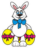Easter bunny with eggs Royalty Free Stock Images