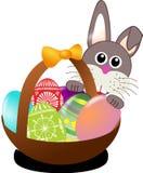 Easter, Bunny, Eggs, Nest, Basket Stock Image