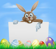 Easter bunny and eggs sign Stock Image