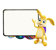 Easter Bunny with eggs with signboard Stock Images