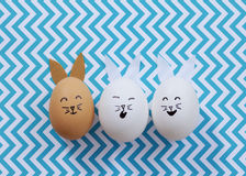 Easter bunny eggs Stock Images