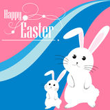 Easter bunny and eggs vector background Royalty Free Stock Images