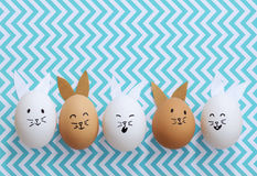 Easter bunny eggs Royalty Free Stock Images