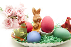 Easter bunny with ernest Royalty Free Stock Photos