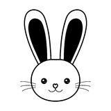 easter bunny face whiskers animal line Stock Photography