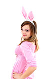 Easter bunny female Royalty Free Stock Image