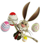 Easter bunny floating Stock Photo