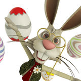 Easter bunny flying close up Royalty Free Stock Images