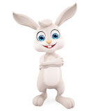 Easter Bunny with folding hand pose Royalty Free Stock Images
