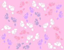 Easter Bunny Footprints Background Royalty Free Stock Photos