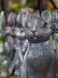 A glittery bunny awaiting the Easter holiday with his friends in the background. royalty free stock photos