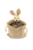 Easter Bunny with a full bag Stock Photos