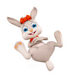 Easter Bunny with funny pose Royalty Free Stock Images