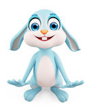 Easter Bunny with funny pose Royalty Free Stock Photography