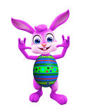 Easter bunny with funny pose Stock Image