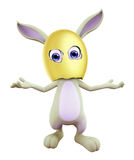 Easter Bunny with funny pose Royalty Free Stock Photos