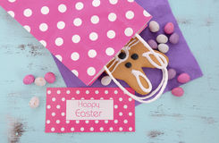 Easter bunny gingerbread cookie Royalty Free Stock Image