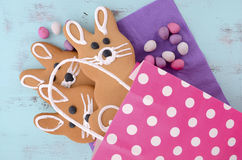 Easter bunny gingerbread cookies Royalty Free Stock Images