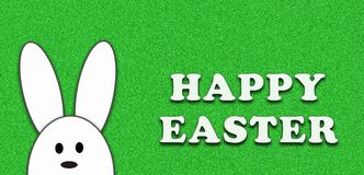Easter bunny on green background.Happy easter Stock Photo