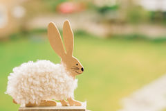 Easter Bunny on a green background Royalty Free Stock Photography