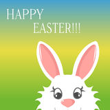 Easter bunny greeting card banner happy easter. N colorful background Royalty Free Stock Image
