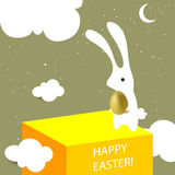 Easter bunny greeting card Stock Image