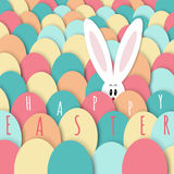 Easter bunny greeting card Royalty Free Stock Images