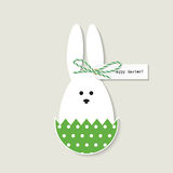 Easter bunny greeting card Stock Images