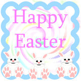 Easter bunny greeting poster Stock Photos