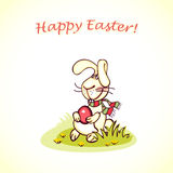 Easter bunny. Happy easter card. easter  bunny and eggs Royalty Free Stock Photography