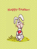 Easter bunny. Happy easter card. easter  bunny and eggs Royalty Free Stock Images