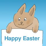 Easter bunny with Happy Easter Stock Image