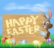 Easter bunny Happy Easter Sign Stock Images