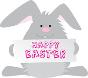 Easter bunny happy easter sign Stock Photos